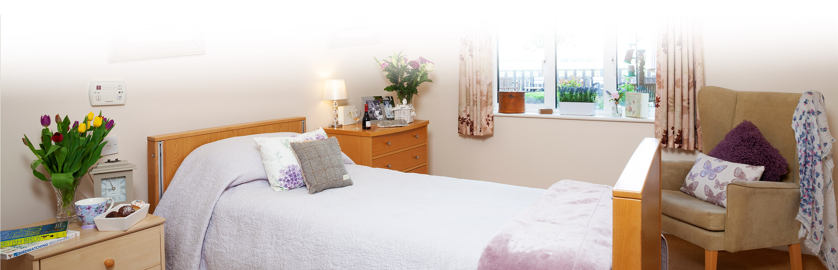 Bedroom at Stowford House Care Home Abingdon